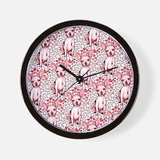 Chihuahua Pink Hearts Wall Clock