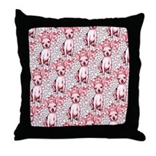 Chihuahua Pink Hearts Throw Pillow