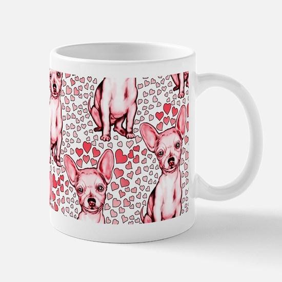 Chihuahua Pink Hearts Mug