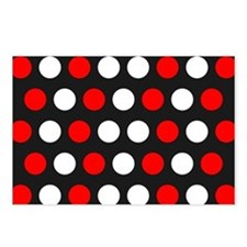 Red And White Polka Dots Postcards (Package of 8)