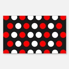 Red And White Polka Dots Decal