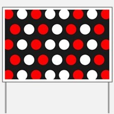 Red And White Polka Dots Yard Sign