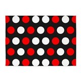 Red and white polka dots 5x7 Rugs