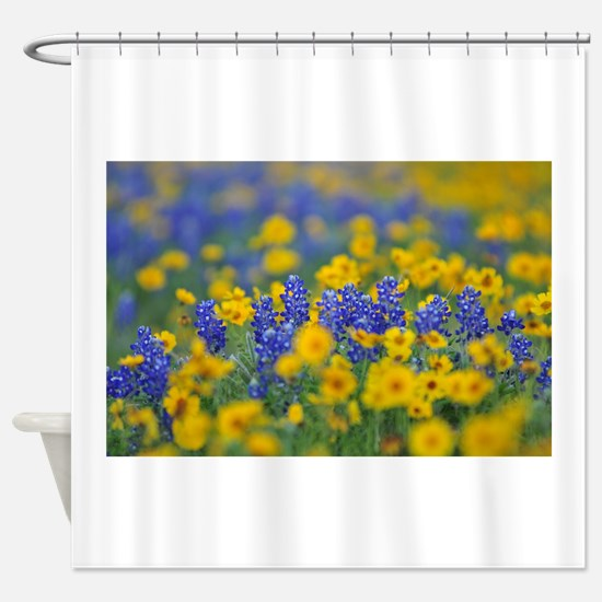 Funny Texas bluebonnet Shower Curtain