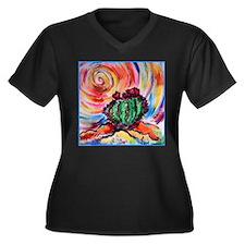 Cactus, colorful desert art, Plus Size T-Shirt