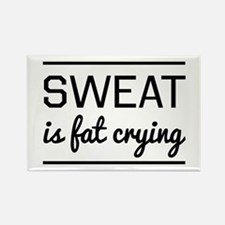 Sweat is fat crying Magnets
