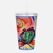 Cactus, colorful desert art, Acrylic Double-wall T