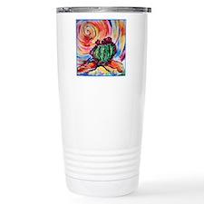 Cactus, colorful desert art, Travel Mug