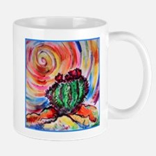 Cactus, colorful desert art, Mugs