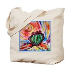 Cactus, colorful desert art, Tote Bag