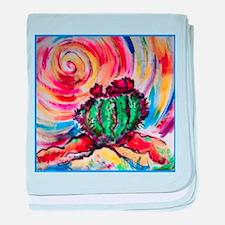 Cactus, colorful desert art, baby blanket