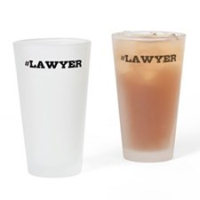 Lawyer Hashtag Drinking Glass
