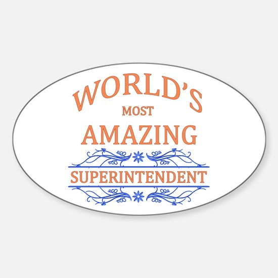 Superintendent Sticker (Oval)