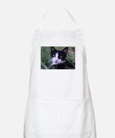Unique Black and white cat Apron