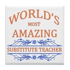 Substitute Teacher Tile Coaster