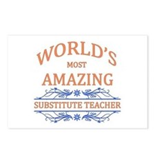 Substitute Teacher Postcards (Package of 8)