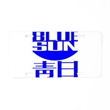 Blue Sun Aluminum License Plate