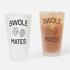 Swole mates Drinking Glass