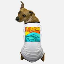 Abstract Ocean Sunset Dog T-Shirt