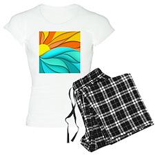 Abstract Ocean Sunset Pajamas