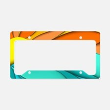 Abstract Ocean Sunset License Plate Holder