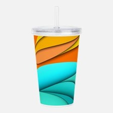 Abstract Ocean Sunset Acrylic Double-wall Tumbler