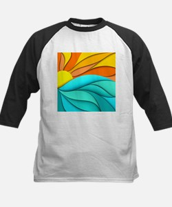 Abstract Ocean Sunset Tee
