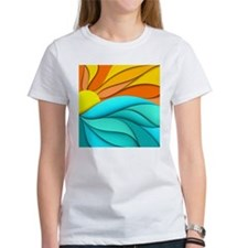 Abstract Ocean Sunset Tee