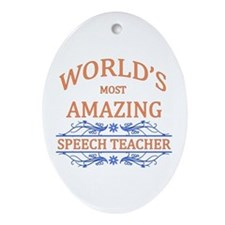 Speech Teacher Ornament (Oval)