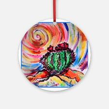 Cactus, colorful desert art, Ornament (Round)
