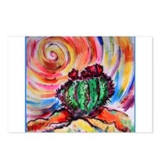 Cactus, colorful desert art, Postcards (Package of