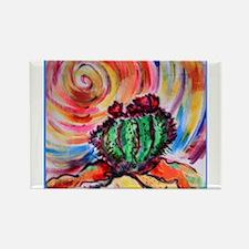 Cactus, colorful desert art, Magnets