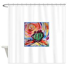 Cactus, colorful desert art, Shower Curtain