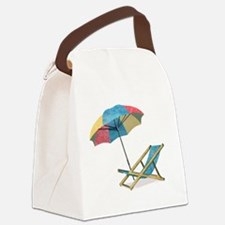 Unique Umbrella Canvas Lunch Bag
