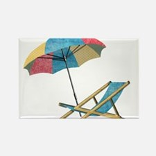 Beach Chair and Umbrella Magnets