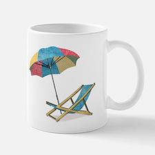 Beach Chair and Umbrella Mugs