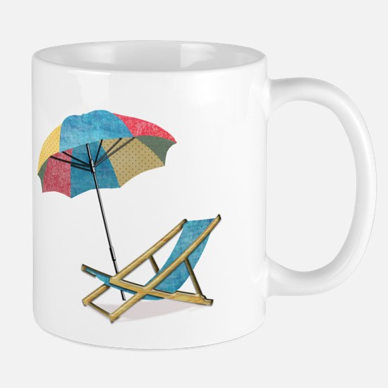 Beach Chair and Umbrella Mugs