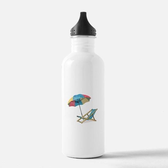 Cute Beach Water Bottle