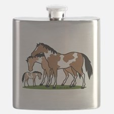 Happy Indian Horses Flask