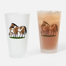 Happy Indian Horses Drinking Glass