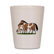 Happy Indian Horses Shot Glass