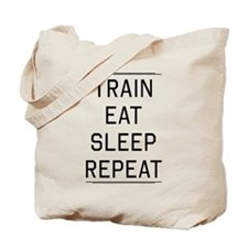 Train eat sleep repeat Tote Bag