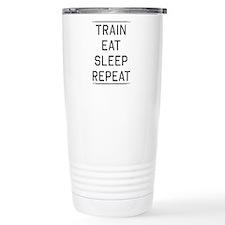 Train eat sleep repeat Travel Mug