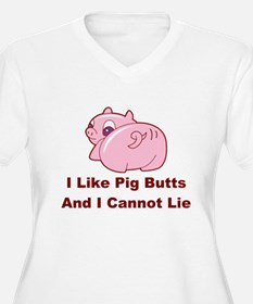 Pig Butts-001 Plus Size T-Shirt