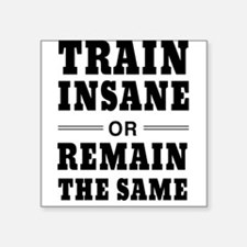 Train insane or remain same Sticker