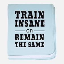 Train insane or remain same baby blanket