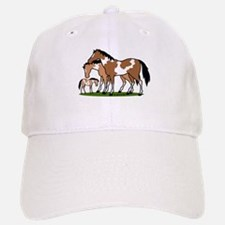 Happy Indian Horses Baseball Baseball Cap