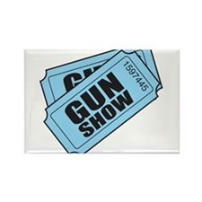 Two tickets gun show Magnets