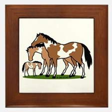 Happy Indian Horses Framed Tile