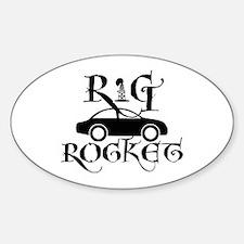 Rig Rocket Sticker (oval)